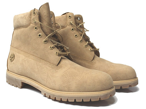 Timberland Mens Premium 6inch Boots Leather Cream Camo IS14