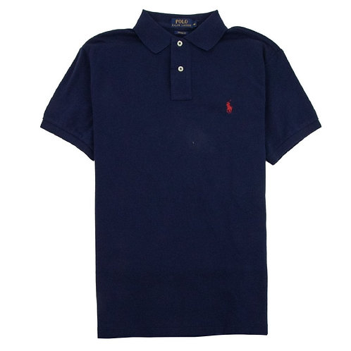 Polo Ralph Lauren Mens Newport Navy Mesh top Tee Custom Fit Polo MU13