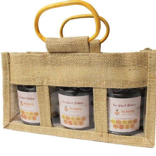 100% PURE GIFT SET CERTIFIED Raw honey, Chestnut Avocado Forest Fresh