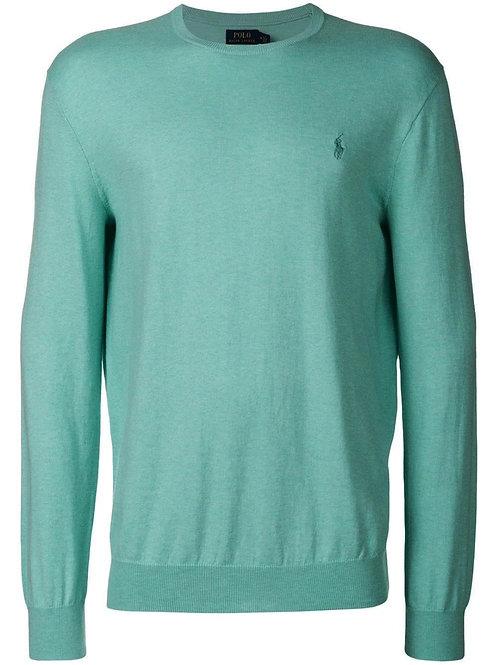Polo Ralph Lauren Mens Pima Cotton Sweater Jumper Green MU71