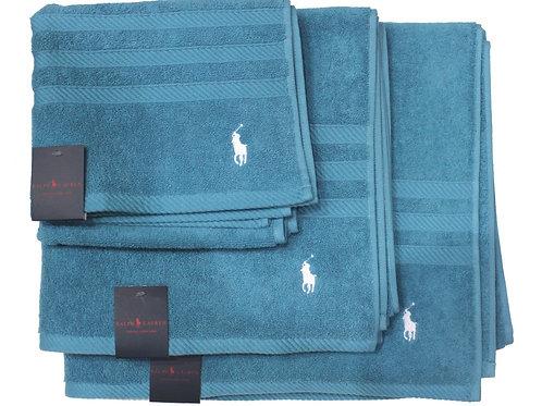 Polo Ralph Lauren Bath Sheet Hand Towel Set Turquoise TV21