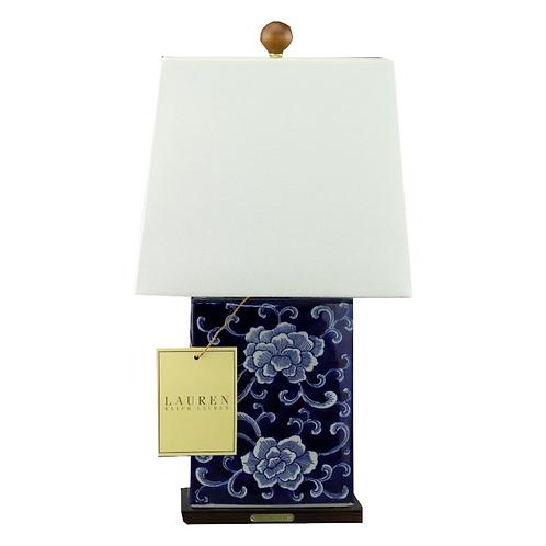 Ralph Lauren Home Mandarin Floral Porcelain Table Lamp Rare Hand painted KW3