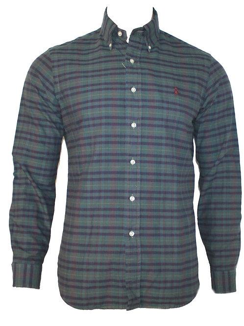 Polo Ralph Lauren Mens Long Sleeve Cotton Button Shirt Top Checks IS95