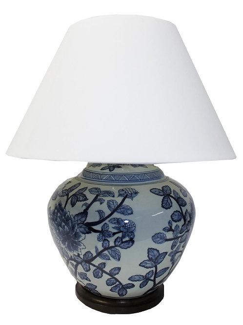 Ralph Lauren Home Floral Porcelain Ginger Jar Lamp Large Rare Hand painted  KW5