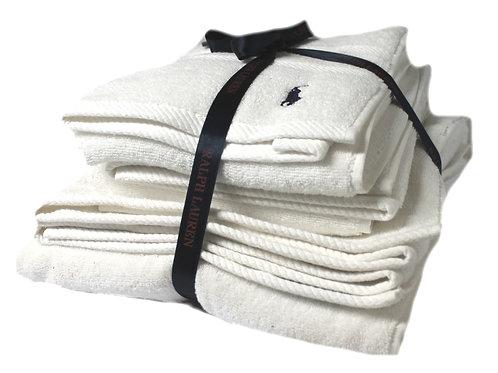 Polo Ralph Lauren Towel set Of 3 White Hand Bath Sheet Gift Set MU26
