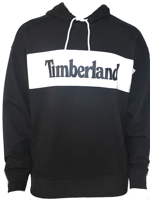 TIMBERLAND Mens Hoodie Black Hooded Relaxed Fit AM29