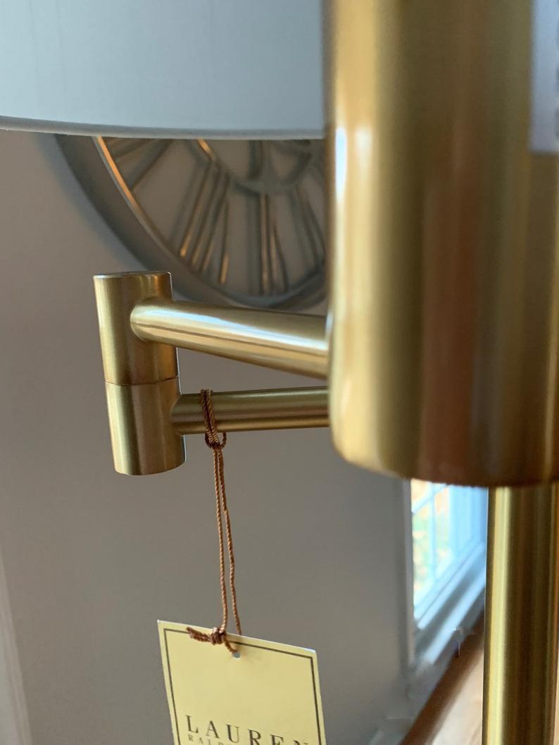 Ralph Lauren Swing Swivel Arm Floor Lamp Gold Vintage Inspired Kw2 Joblotking