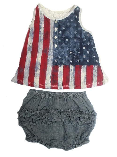 Polo Ralph Lauren Girls Outfit Top Shorts