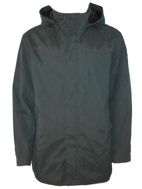 DKNY Mens Hooded Parka Coat Khaki Water resistant MU63