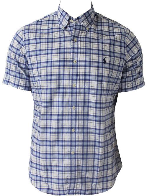 Polo Ralph Lauren Mens Check Shirt Summer Beach Short Sleeve Am5