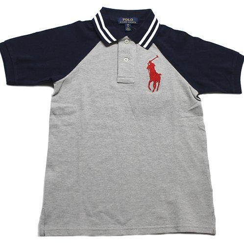 Polo Ralph Lauren Kids Childrens Big Pony Top Tee T-shirt Short Sleeve Grey MU45