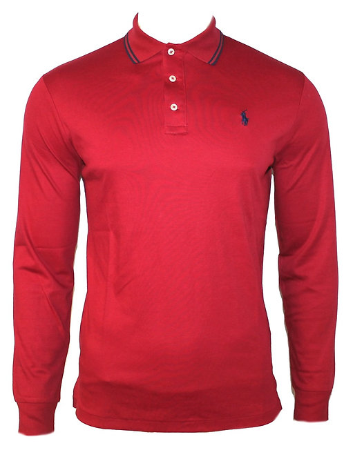 Polo Ralph Lauren Mens Long Sleeve Collared Top T-shirt Shirt Slim Fit MU40