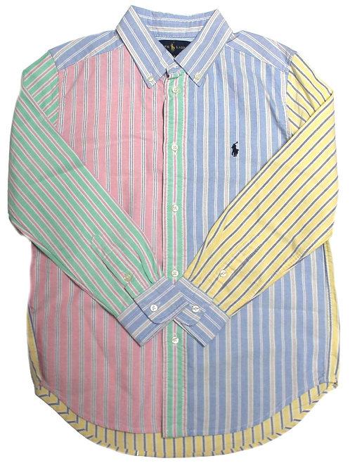 Polo Ralph Lauren Kids Boys Childrens Fun Striped Shirt Long Sleeve IS56