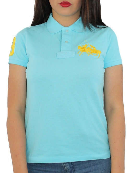 women's light Turquoise Mothers Polo Top