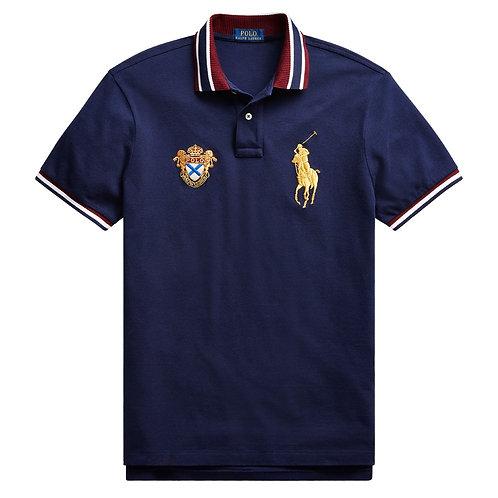 Polo Ralph Lauren Crest Polo Shirt Navy Big New Limited Custom Slim Fit KW51