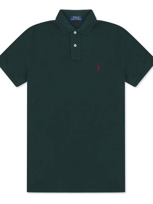 Polo Ralph Lauren Short Sleeve Classic Fit Pique Polo College Green mens KW49