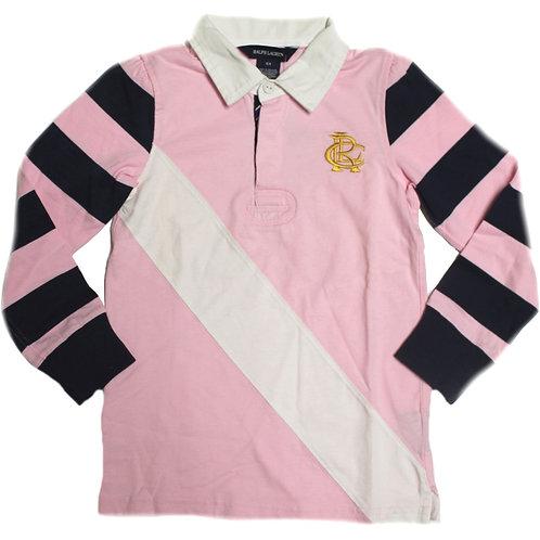 Polo Ralph Lauren Girls Long Sleeve Rugby Shirt Tee Thist Top IS97