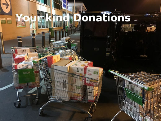 Donations of food to Salma Food Bank