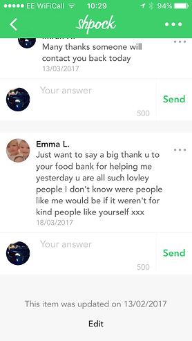 Thank you to Salma Food Bank