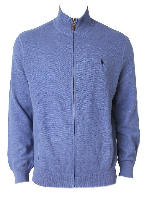 Polo Ralph Lauren Mens Zipped Sweater Jumper Blue Cotton MU51