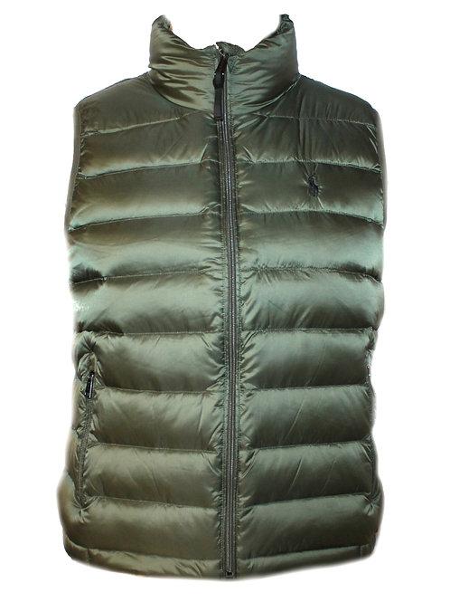 Polo Ralph Lauren Womens Down Waistcoat Gilet Khaki Green MU39