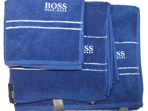 HUGO BOSS Towel set Of 3 Blue Bath Sheet Hand Gift AM17