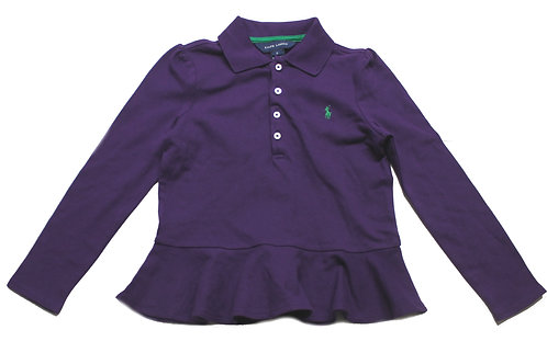 Polo Ralph Lauren Girls purple Long Sleeve Top 100% Genuine pk9