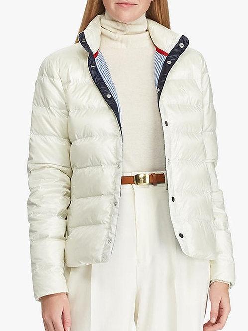 Polo Ralph Lauren Womens Down Filled Cream Coat Jacket KW38