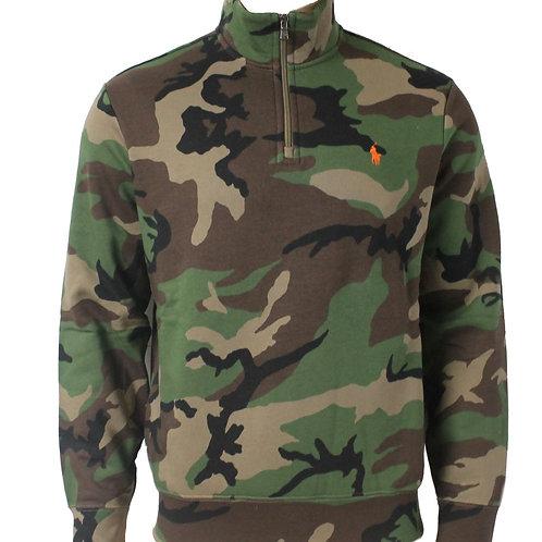 Polo Ralph Lauren Camo Mens Jumper Zip Sweater KW53
