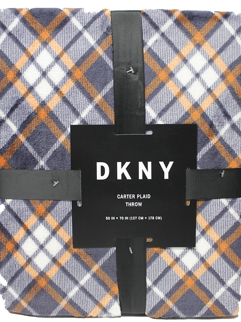 DKNY Check Carter Plaid Chenille Lattice Throw Blanket 50*70 KW9