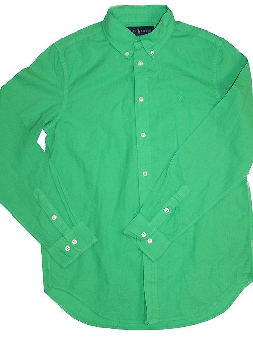 Polo Ralph Lauren Girls Teenagers Bottle Green Shirt SP12