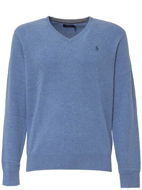 Polo Ralph Lauren V-Neck Knit Sweater Wool Jumper KW41