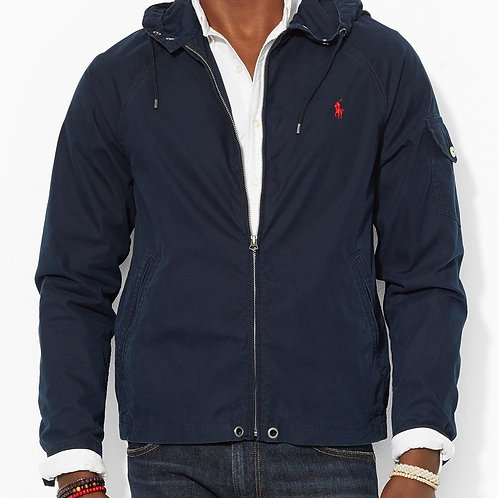POLO RALPH LAUREN - AVIATOR NAVY WAIMEA WINDBREAKER MENS HOODED JACKET COAT KW44