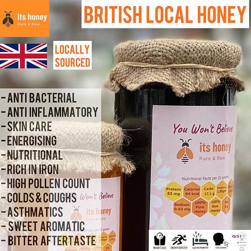 Local British  Raw Honey Wild Flower