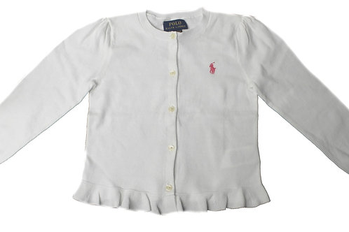 Polo Ralph Lauren Kids Girls White Cardigan Jumper Sweater IS15