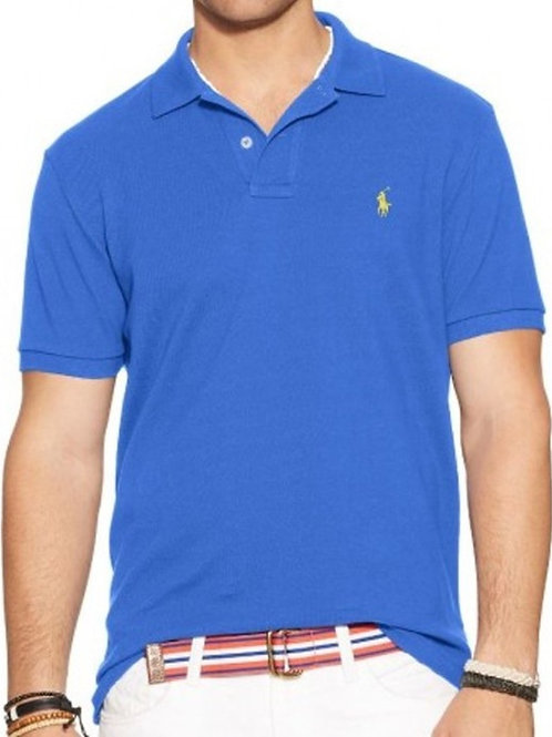 Polo Mens Classic Top Tee T-shirt Blue