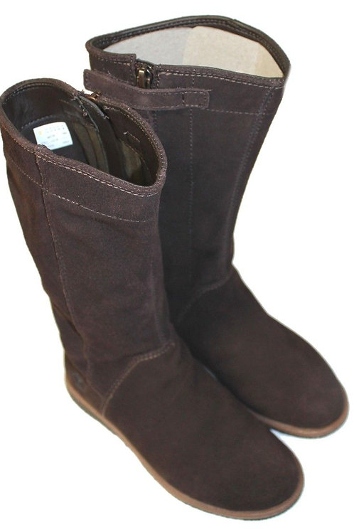 Timberland Girls brown tall high boots suede leather