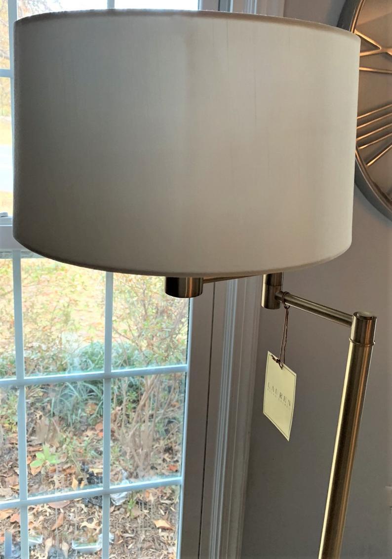 Image of: Ralph Lauren Swing Swivel Arm Floor Lamp Gold Vintage Inspired Kw2 Joblotking