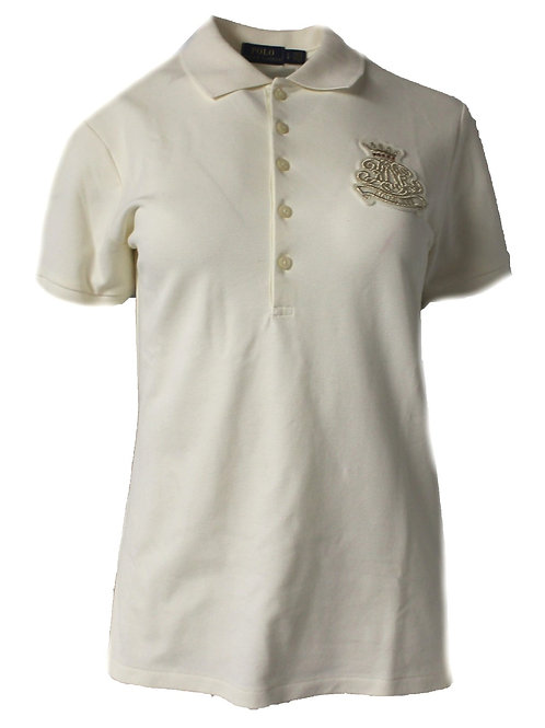 Polo Ralph Lauren Short Sleeve top Cream Womens Shirt IS57