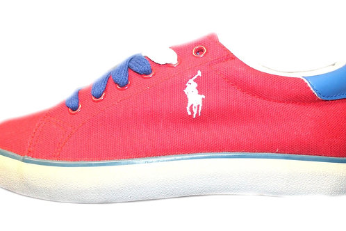 Polo Ralph Lauren Boys Kids Red Trainers Lace