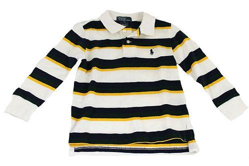 boys multi striped polo shirt