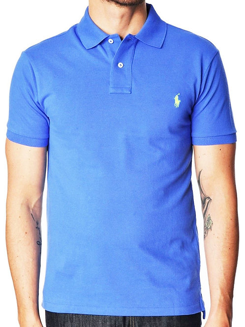 Polo Men's Classic Polo Top Tee T-shirt short sleeve Aerial Blue