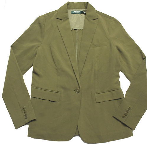 Ralph Lauren Khaki 1 Button Blazer Jacket Womens MU59