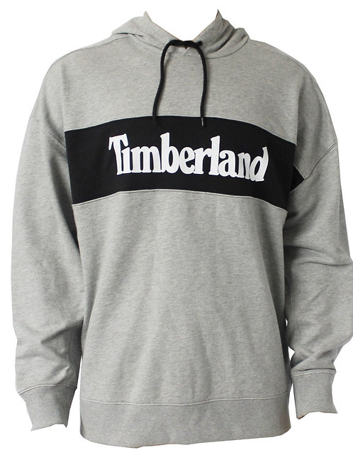 TIMBERLAND Mens Hoodie Grey Hooded Relaxed Fit AM30