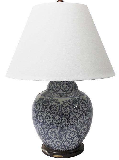 Ralph Lauren Home Floral Porcelain Ginger Jar Lamp Large Rare Hand painted  AM21