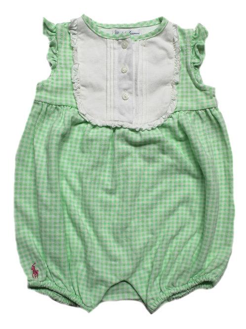 Polo Ralph Lauren Kids Girls Checked all in ones Romper JK46