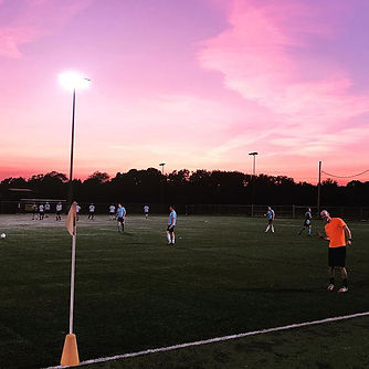 A beautiful night for the beautiful game