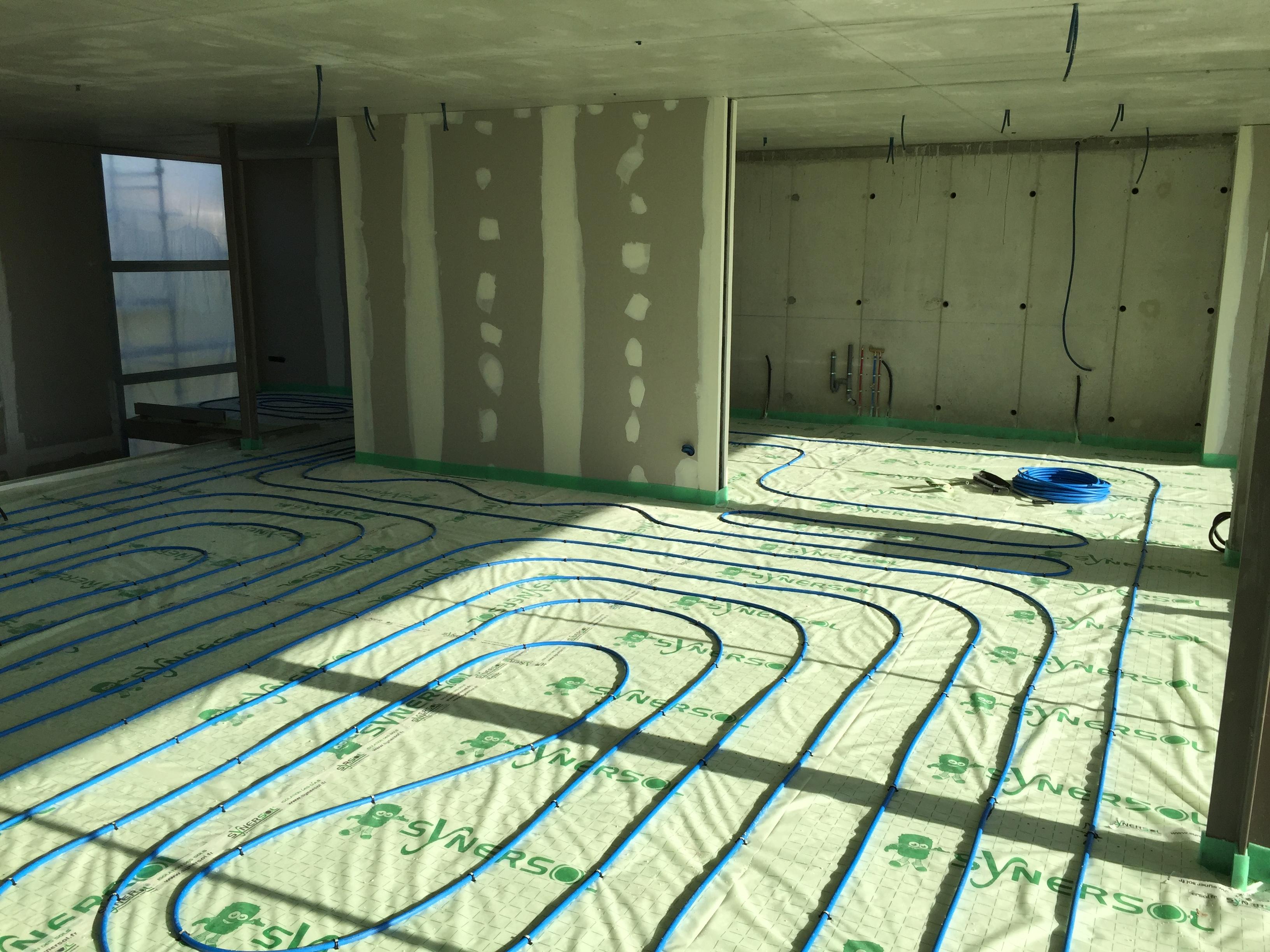 Création plancher chauffant