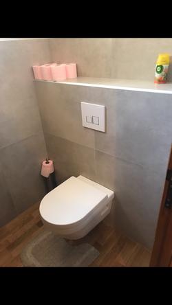 remplacement wc par wc suspendu