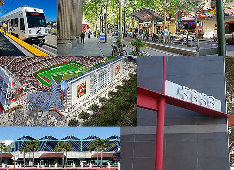 A photocollage of sites around the Marriott Business Park in Santa Clara.